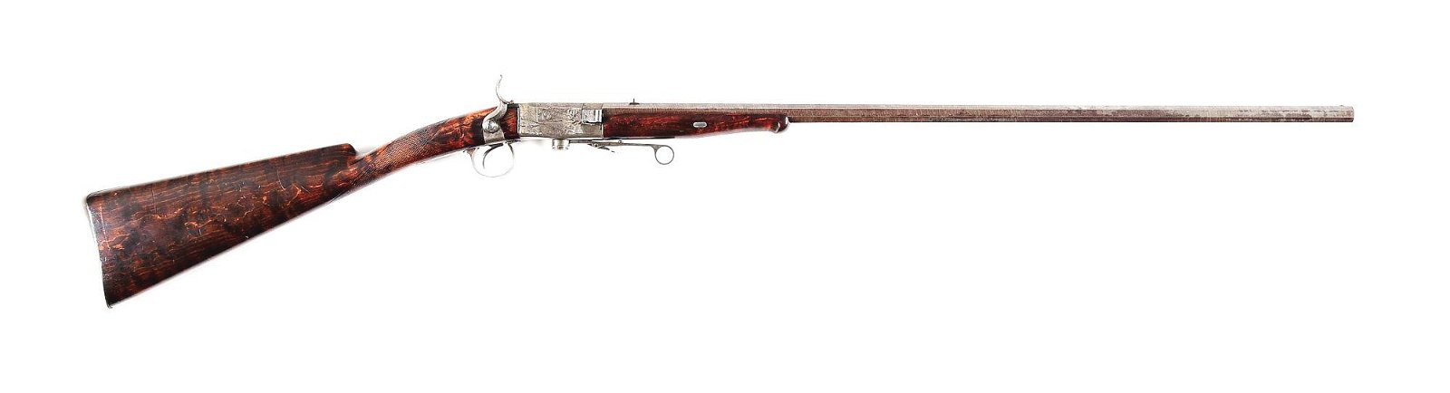 (A) A CLEVER CONWAY TURN BREECH .50 CALIBER RIFLE.