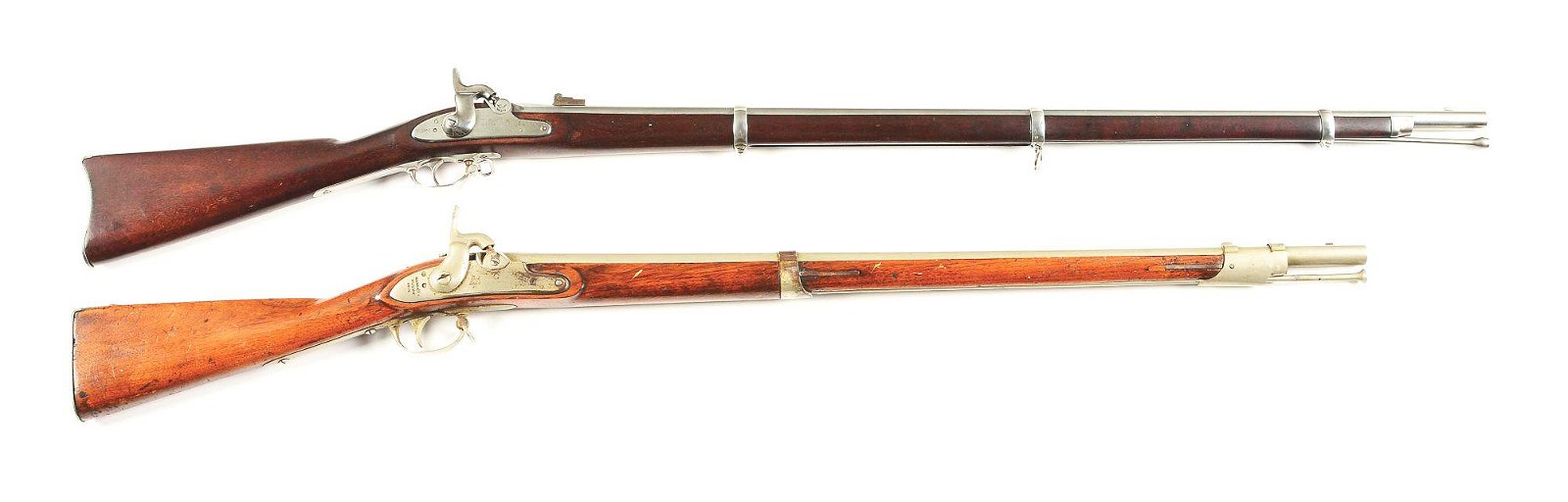 (A) LOT OF 2: PERCUSSION RIFLES.
