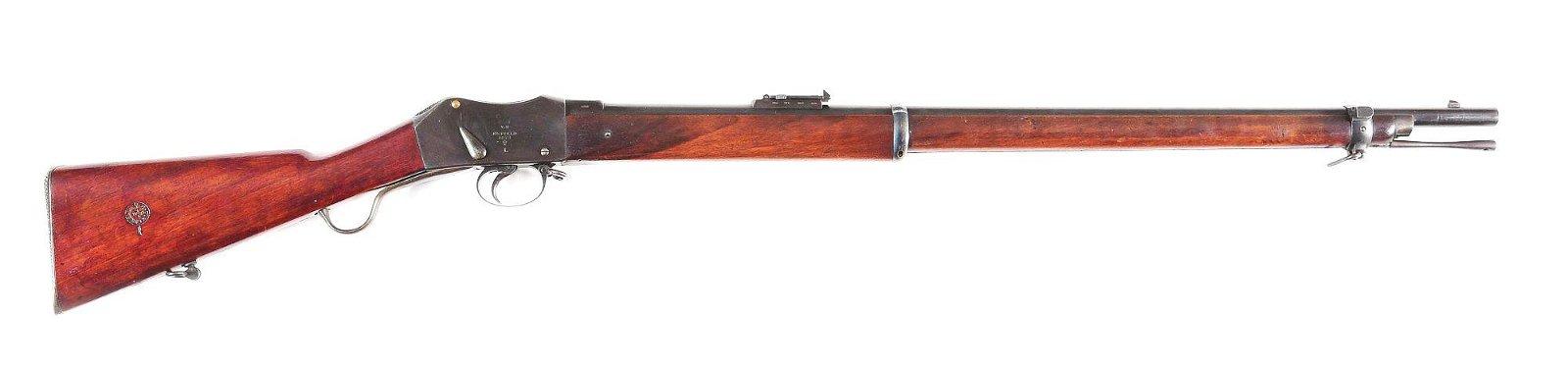 (A) ENFIELD MARTINI .577/450 SINGLE SHOT RIFLE.