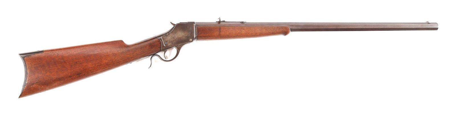 (A) WINCHESTER MODEL 1885 .38-55 SINGLE SHOT RIFLE.