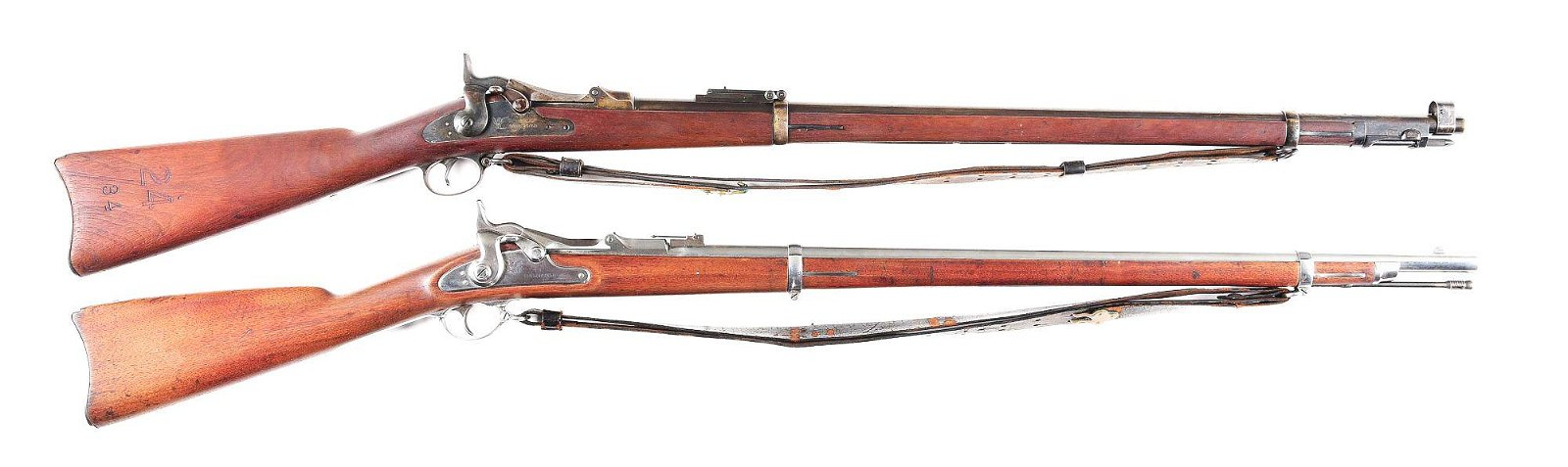 (A) LOT OF 2: SPRINGFIELD TRAPDOOR RIFLES.