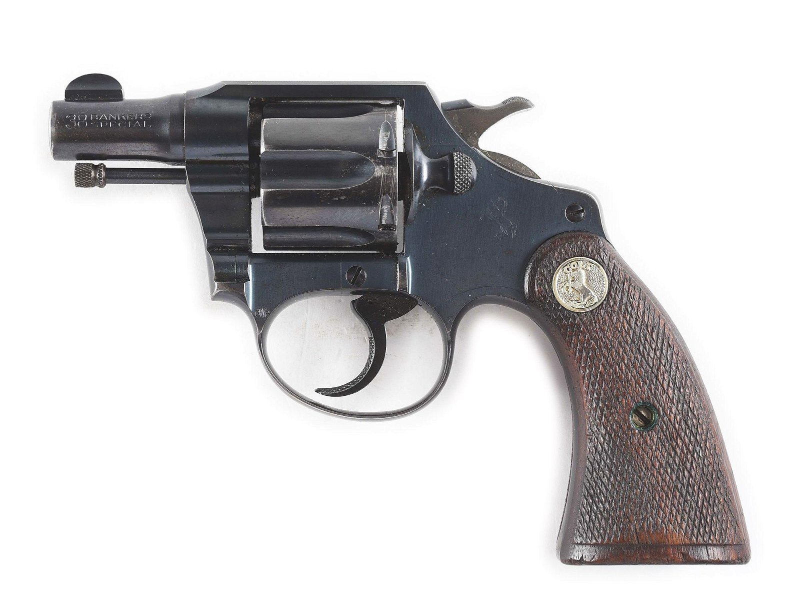 (C) RAILWAY MAIL SERVICE COLT BANKERS SPECIAL REVOLVER.