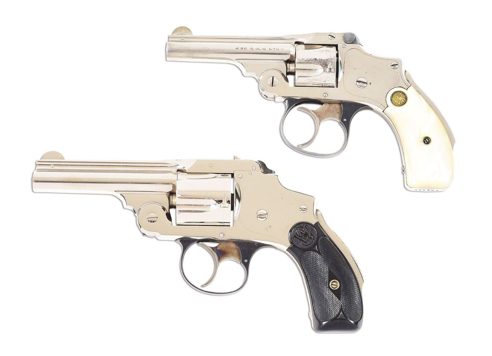 (C) LOT OF 2: SMITH & WESSON REVOLVERS WITH 1 ORIGINAL