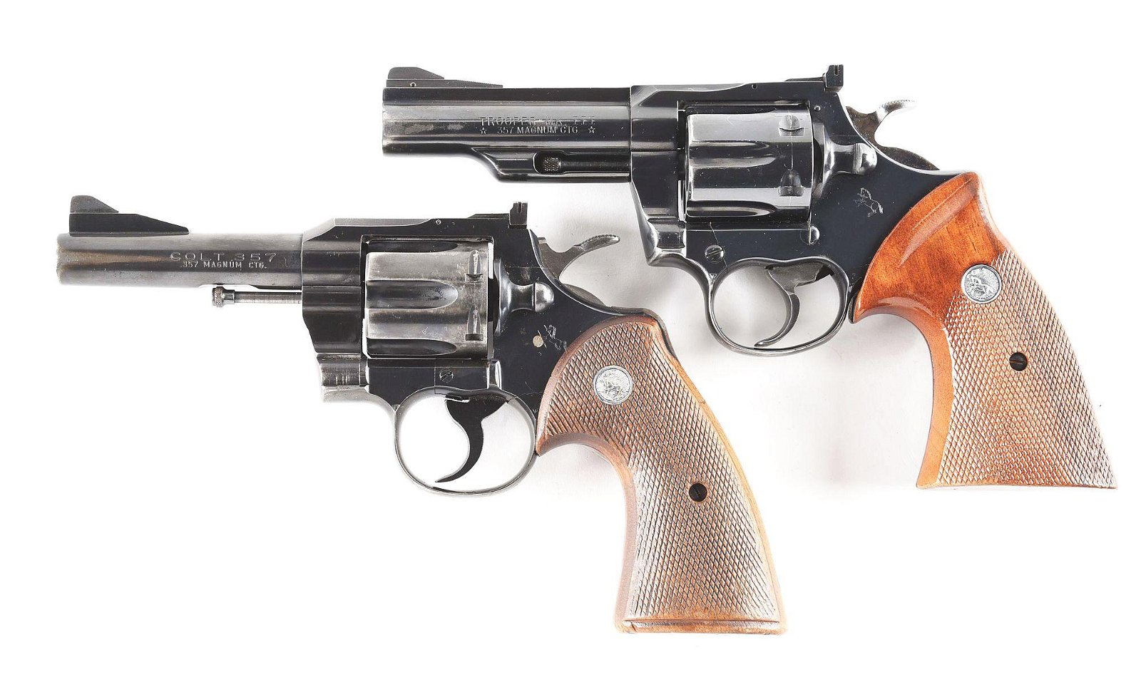 (C) LOT OF 2: PAIR OF COLT .357 DOUBLE ACTION REVOLVERS