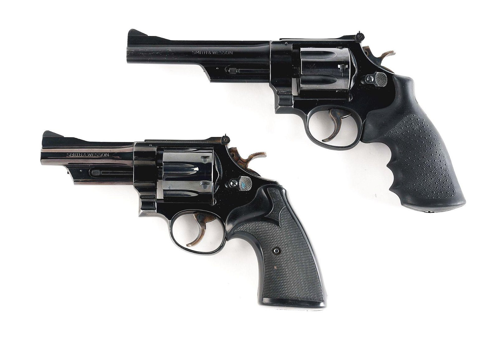(M) LOT OF 2: SMITH AND WESSON 28-2 AND 27-2 REVOLVERS.