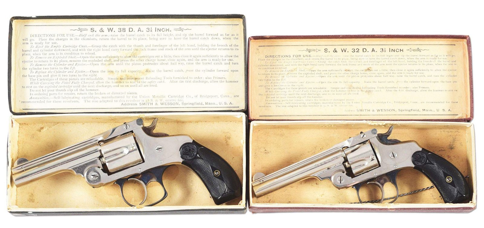 (C) LOT OF 2: PAIR OF EXTRAORDINARY SMITH & WESSON
