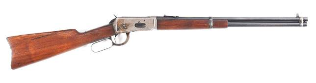 (C) WINCHESTER MODEL 1894 .25-35 WCF LEVER ACTION RIFLE