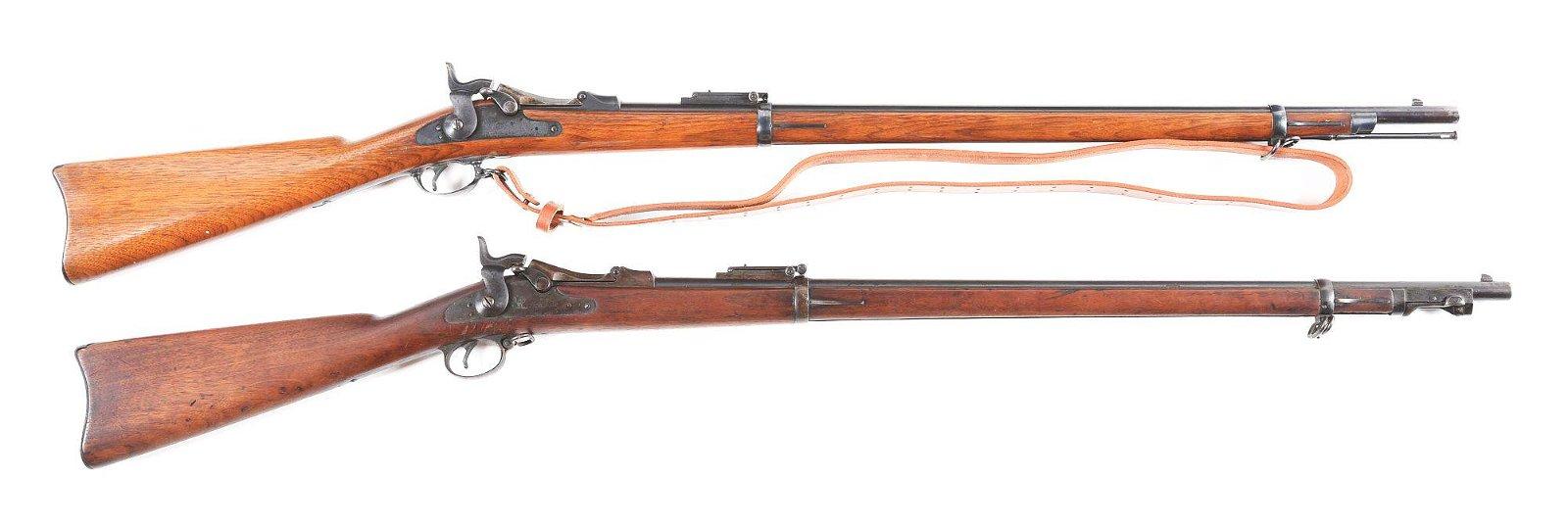 (C) SHOOTERS LOT OF 2 SPRINGFIELD TRAPDOOR RIFLES.