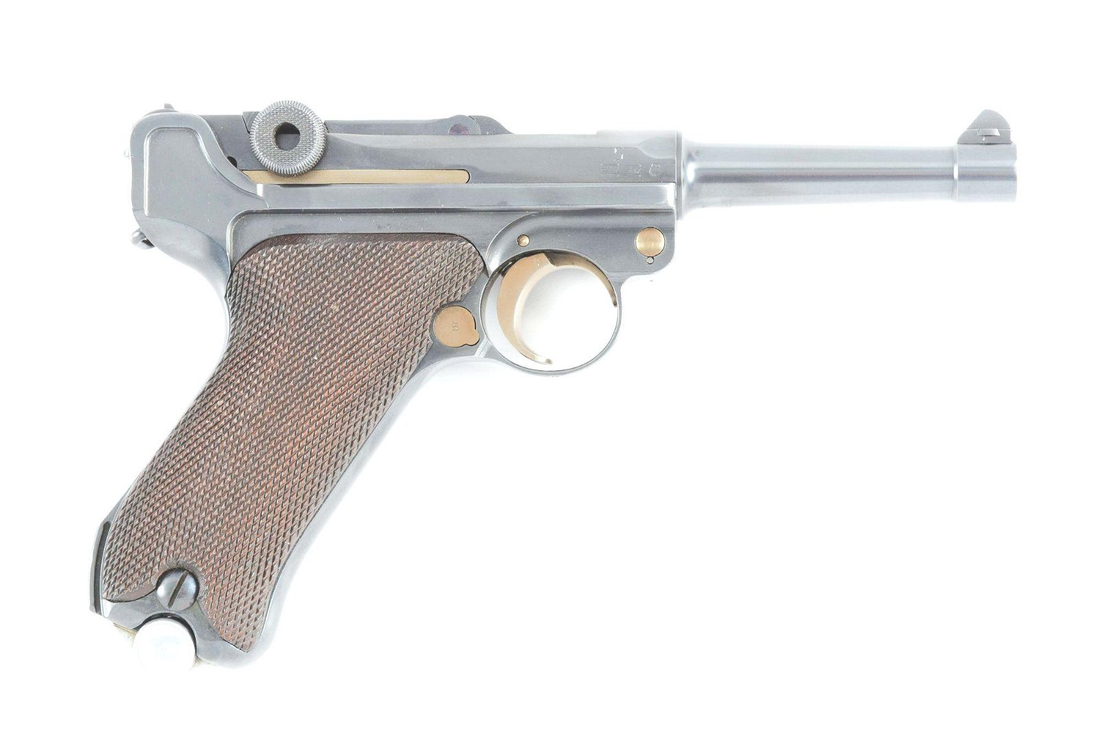 """(C) RARE AND DESIRABLE 1934 """"K"""" DATE 9MM P-08 LUGER RIG"""