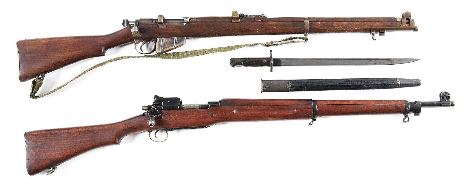 (C) LOT OF 2: SMLE MARK III AND WINCHESTER P14 BOLT