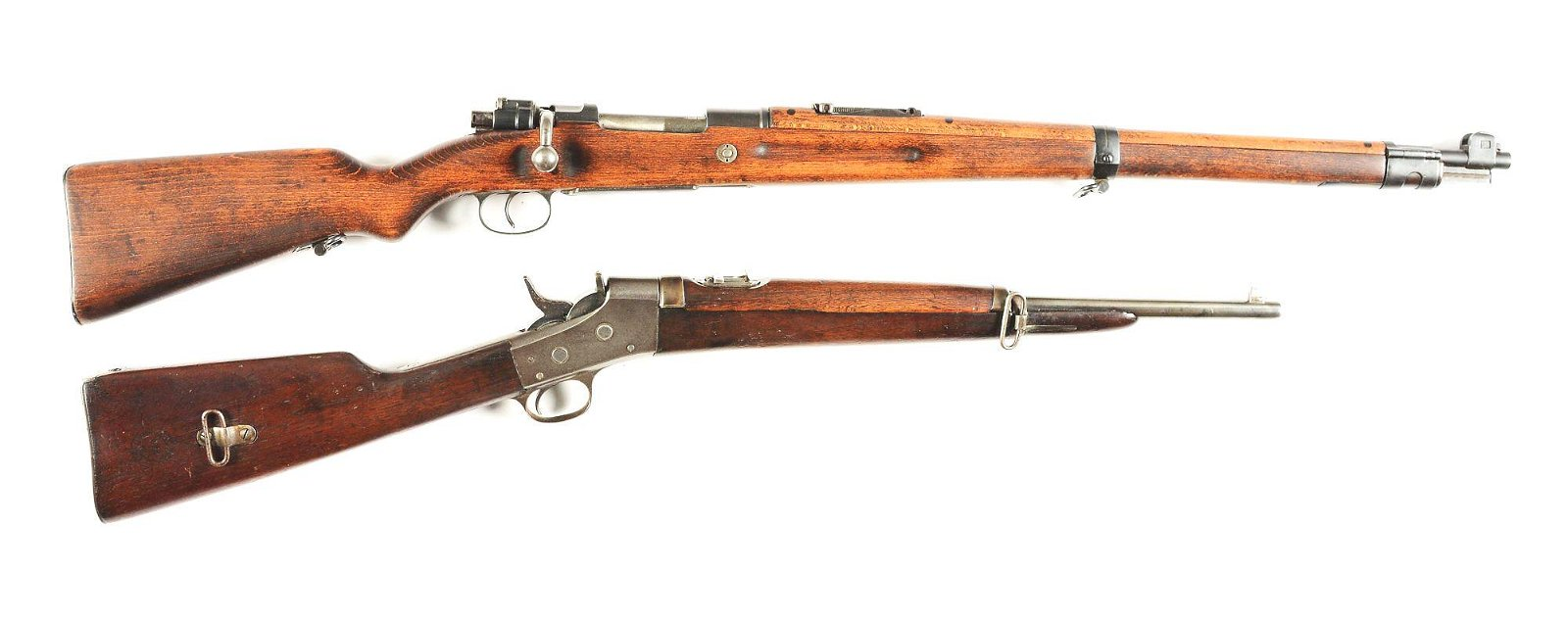 (C) LOT OF 2: KAR98A MAUSER BOLT ACTION RIFLE AND