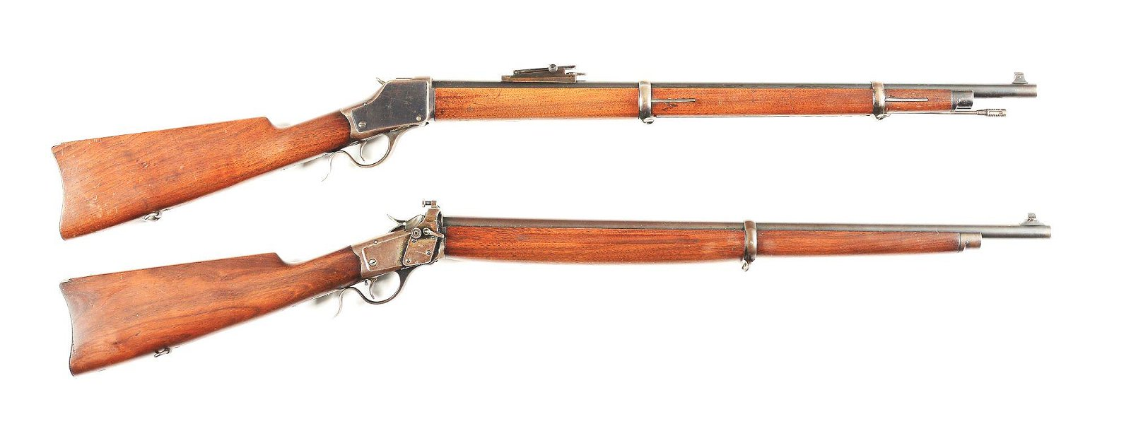 (C) LOT OF 2: WINCHESTER 1885 HIGH WALL MUSKET, AND