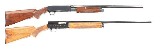 M LOT OF TWO BROWNING SHOTGUNS BPS SLIDE ACTION AND