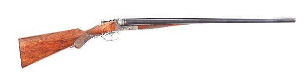 C J P SAUER  SOHN BOX LOCK SIDE BY SIDE SHOTGUN