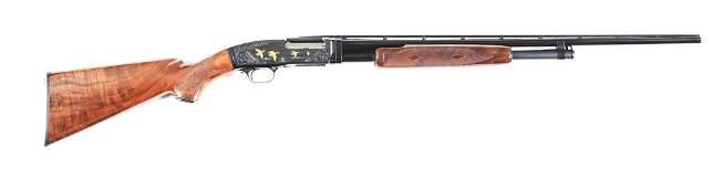 M BROWNING MODEL 42 SLIDE ACTION SHOTGUN GRADE V