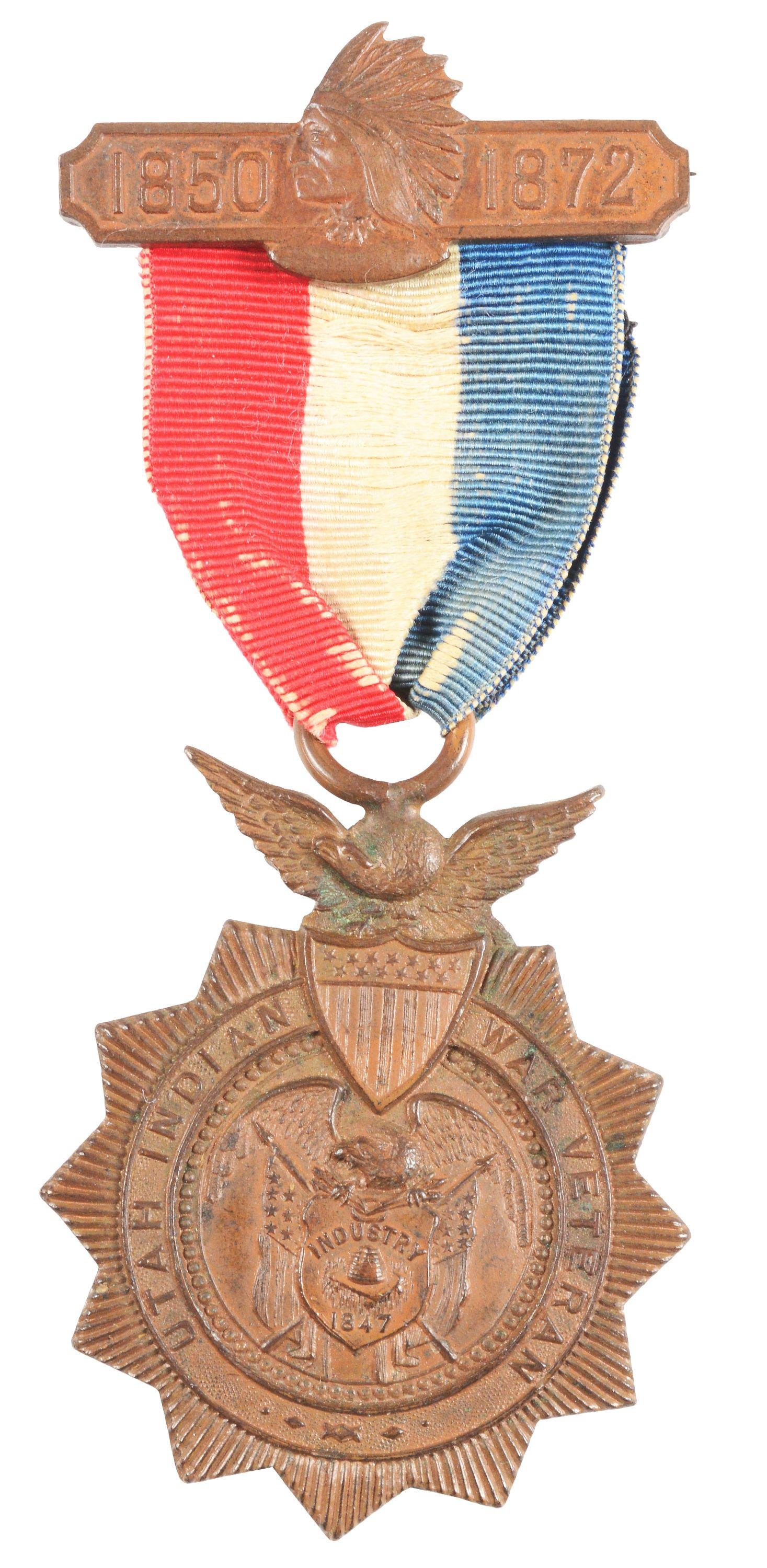 UTAH INDIAN WAR VETERAN MEDAL NAMED TO SAMUEL T.
