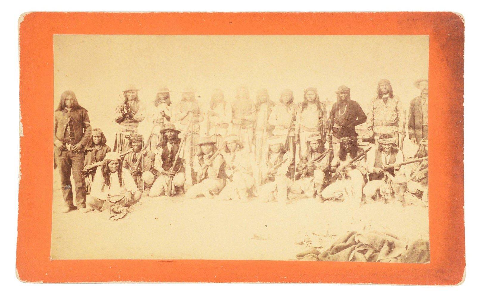 1880'S APACHE SCOUTS GROUP PHOTOGRAPH.