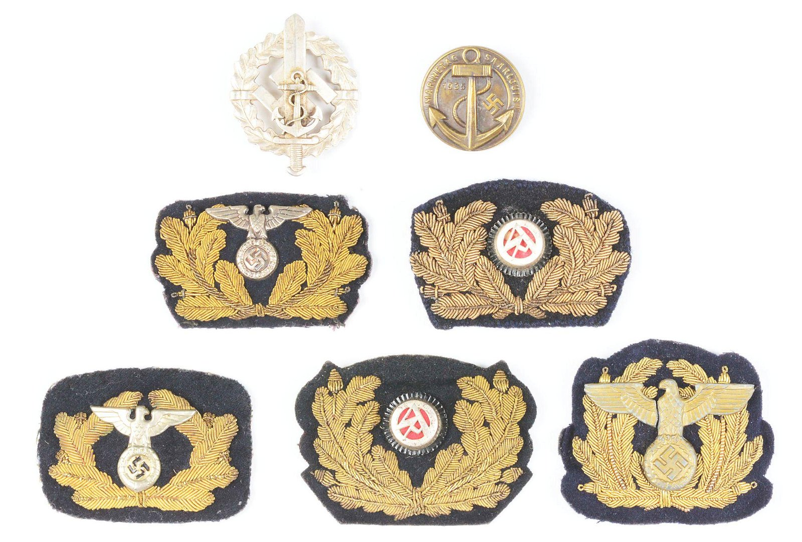 LOT OF 8: THIRD REICH SA MARINE, WATERWAYS PROTECTION