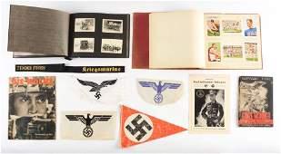 LOT OF 11: GERMAN WORLD WAR II MISCELLANEOUS PAPERWORK,