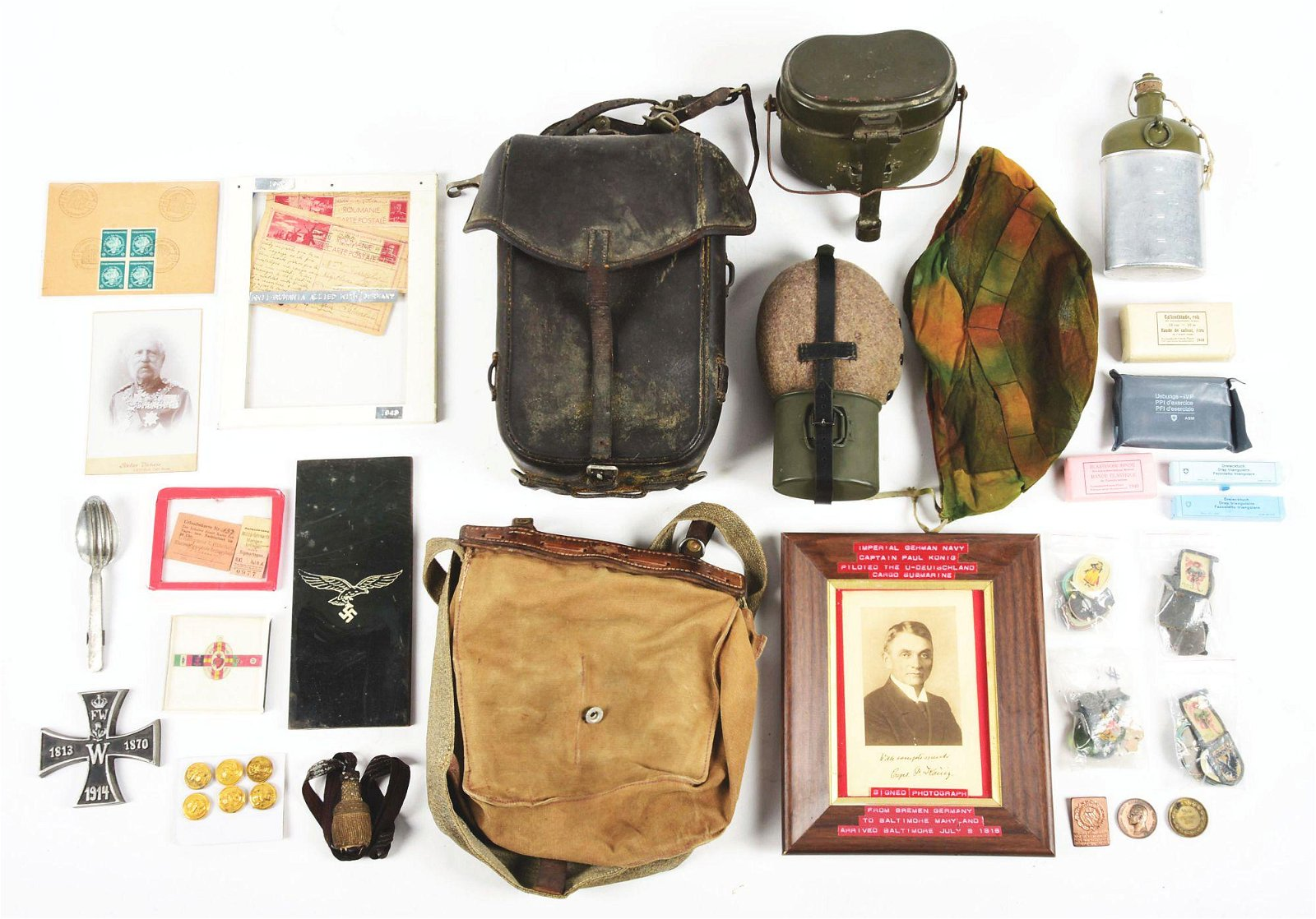 LARGE MIXED LOT OF WWII AND POST WWII GERMAN & SWISS