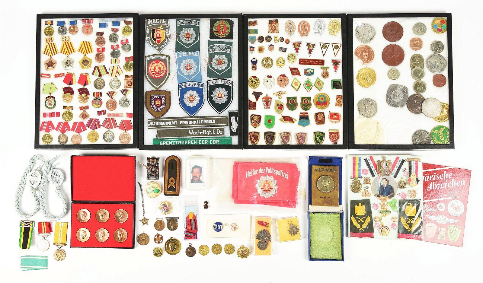 VERY LARGE LOT OF EAST GERMAN DDR & IRAQI MEDALS AND