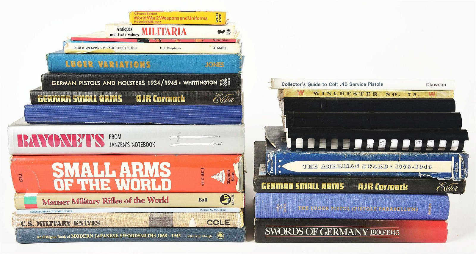 LOT OF 23: FIREARMS AND MILITARIA BOOKS.