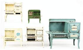 LOT OF 5: CAST-IRON KENTON AND ARCADE STOVES.