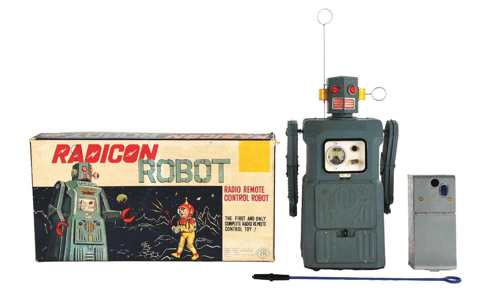 JAPANESE TIN BATTERY-OPERATED GANG OF 5 RADICON ROBOT