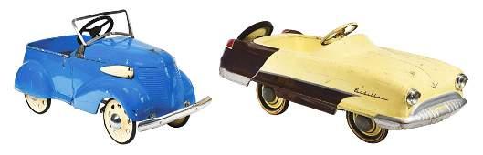 LOT OF 2: C. 1950'S GARTON CHILD'S PEDAL CARS.