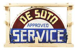 DESOTO APPROVED SERVICE PORCELAIN NEON SIGN.