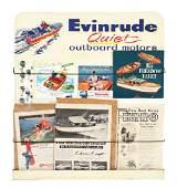 EVINRUDE OUTBOARD MOTORS TIN EASEL BACK LITERATURE