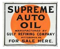 GULF SUPREME AUTO OIL FOR SALE HERE PORCELAIN SERVICE