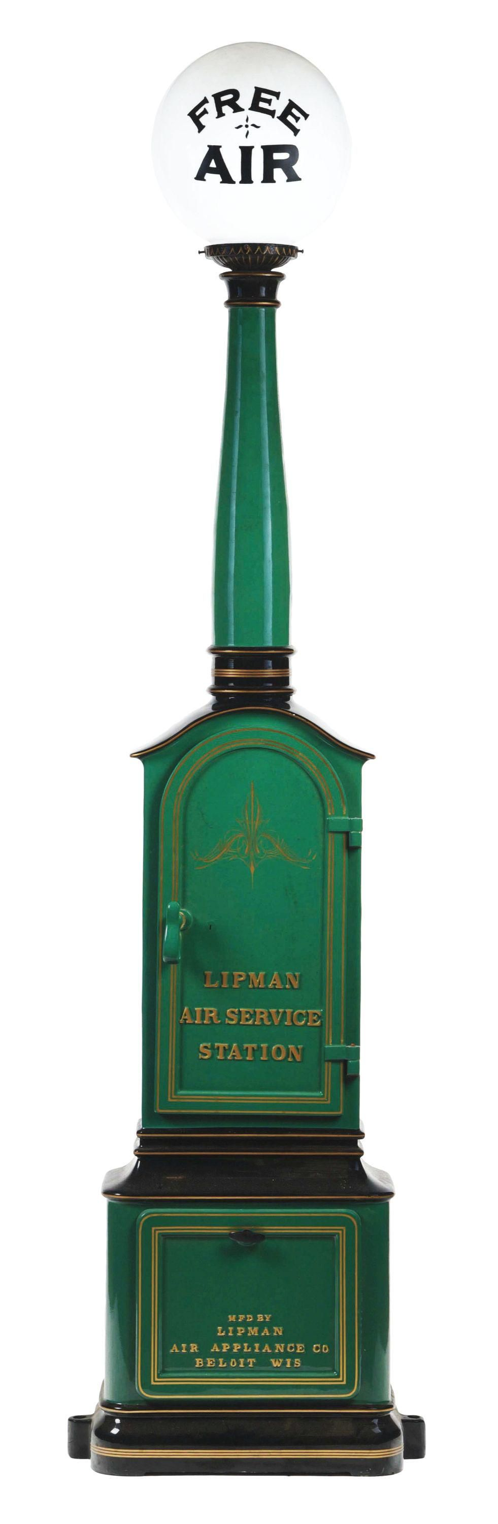 EXTREMELY RARE LIPMAN AIR SERVICE STATION AIR METER W/