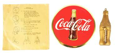 LOT OF 2 COCACOLA SIGN IN ORIGINAL ENVELOPE AND A