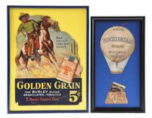 LOT OF 2: TOBACCO RELATED ADVERTISING PIECES.