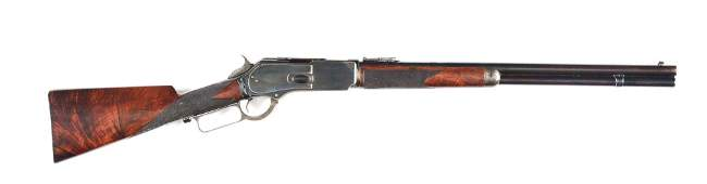 (A) WINCHESTER MODEL 1876 .45-60 WCF LEVER ACTION
