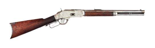 (C) WINCHESTER MODEL 1873 .44 WCF LEVER ACTION RIFLE.