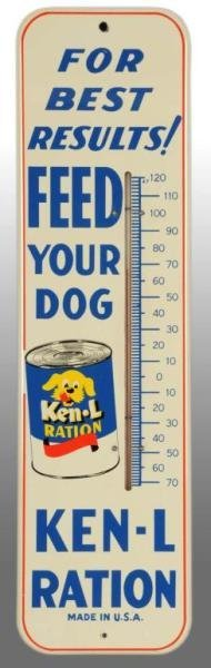 121: Tin Ken-L-Ration Dog Food Thermometer.