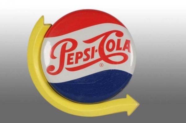 567: Rare Pepsi-Cola Light Up Sign with Yellow Arrow.