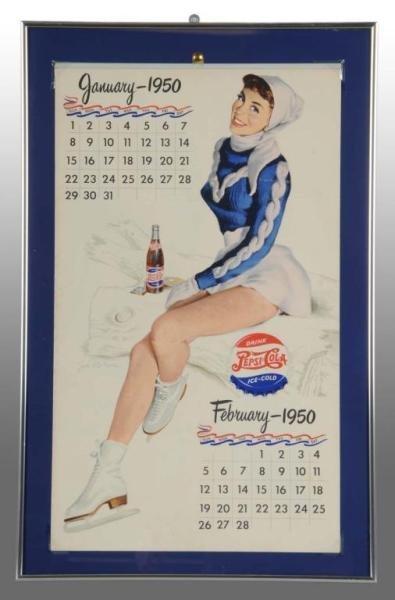 577: Pepsi-Cola 1950 Calendar with Full Pad.