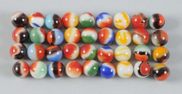 900: Assortment of Machine-Made Marbles.