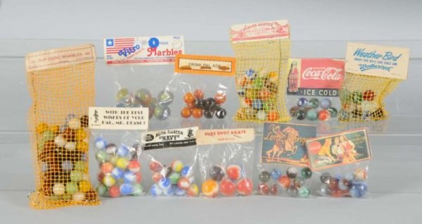 902: Assortment of Bagged Machine-Made Marbles.