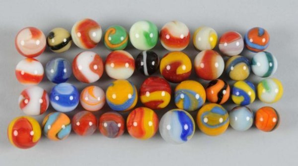 903: Assortment of Akro Agate Machine-Made Marbles.