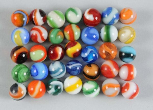 908: Assortment of Machine-Made Marbles.