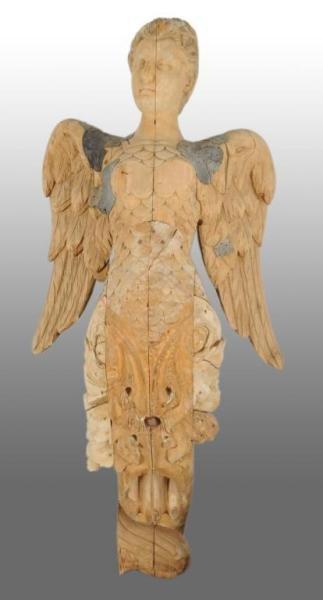 1011: Wooden Mermaid Ship's Figure Head.