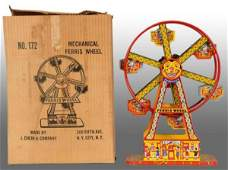1357 Tin Litho Chein Hercules Ferris Wheel WindUp Toy