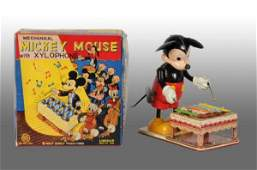 1447 Linemar Disney Mickey Mouse Xylophone WindUp Toy
