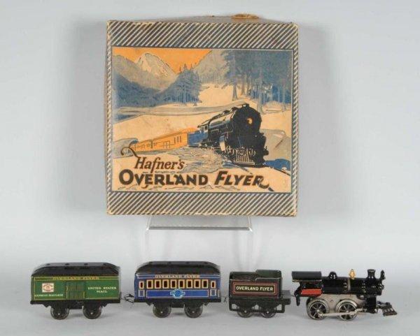 1602: Hafner Overland Flyer Wind-Up Passenger Train Set