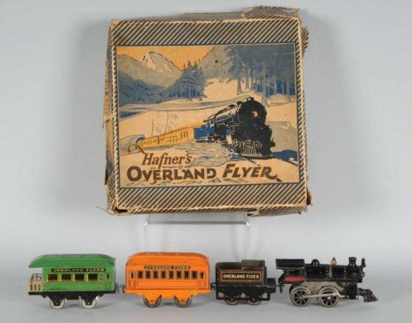 1603: Hafner Overland Flyer Wind-Up Passenger Train Set