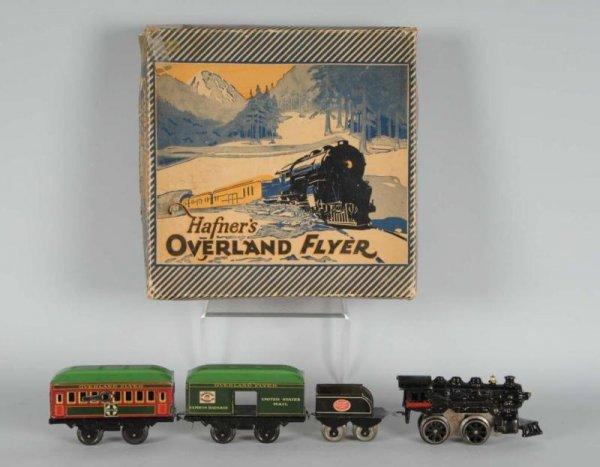 1604: Hafner Overland Flyer Wind-Up Passenger Train Set